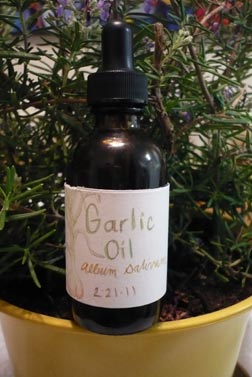 garlic-oil-bottled