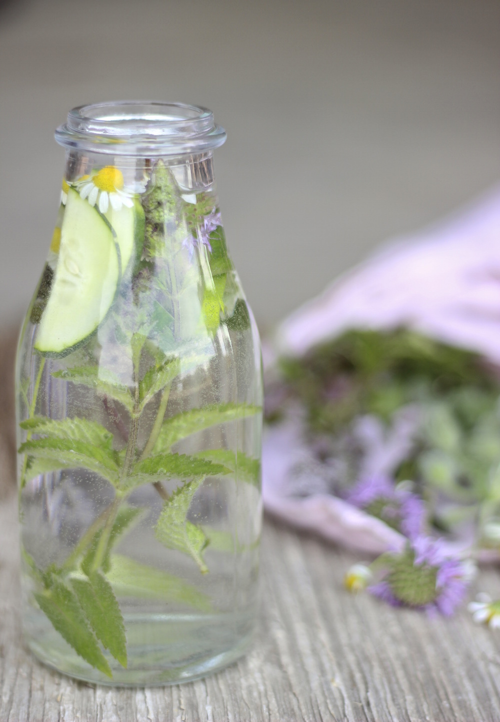 garden herb and cucumber water 5